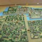 Model of the castle as it would have appeared during the Edo Period.