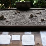 Model of the garden with tenji explanations. For sight impaired visitors.