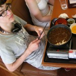 Sukiyaki (in summer??). Apparently was pretty good.