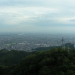 View of Gifu city, with Sekigahara and Mount Ibuki in distance.