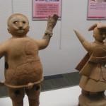 Haniwa figurines (Sumo and Shamaness)