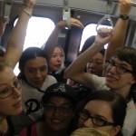 Squeezed onto train (Sobu Line)