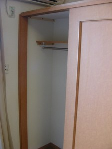 More wardrobe space. You won't need to live out of a suitcase. We also provide 15 coat hangers.