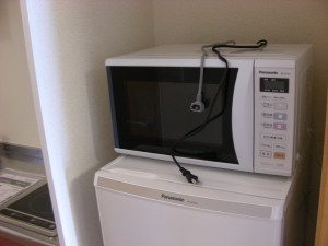 Microwave oven. Sometimes these are dual microwave and convection, allowing baking.