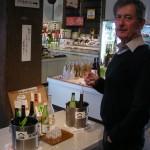 Sake sampling at Tenjingura, Hamamatsu.