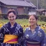 Wearing Yukata (浴衣) in Asuke, Summer Festival.