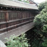 The famous Funa-roka. A kakezukuri-style corridor connecting Kannon Hall with the Jinja. Built using the timbers of Hideyoshi's ship, Nihonmaru.