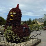 One of the plant sculptures in the gardens of Denpark.