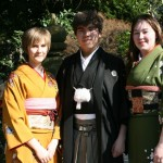 Photo session after Kitsuke class. Usually the students can buy a yukata, and wear it to the Okazaki Fireworks Festival.