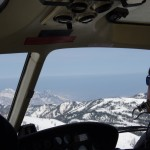 Flying over the Tsugaike Ridge in Hakuba. Sea of Japan in background.