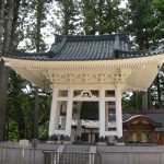 Koya-shiro bell tower. Cast in 1549, it is rung at 4am, 1pm, 6pm, 21pm and 11pm.